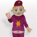 Laughing Boy Short Plush Adult Mascot Costume