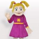 Supply Laughing Girl Short Plush Adult Mascot Costume