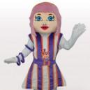 Supply Purple Hair Girl Short Plush Adult Mascot Costume