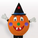Supply Yellow Pumpkin Short Plush Adult Mascot Costume