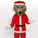 Supply Grey Bear in Santa Outfit Adult Mascot Costume