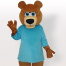 Supply Bear in Blue T-Shirt Adult Mascot Costume