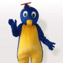 Supply Blue Penguin in Flying Hat Adult Mascot Costume