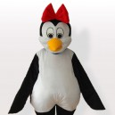 Supply Cutie Penguin with Red Bowknot on the Head Adult Mascot Costume