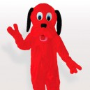 Supply Fire Red Dog Adult Mascot Costume