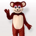Supply Smiling Brown Bear Adult Mascot Costume