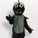Supply Black Dinosaur Short Plush Adult Mascot Costume