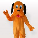 Supply Black Ears Orange Dog Adult Mascot Costume