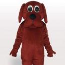 Supply Brown Rooney Dog Short Plush Adult Mascot Costume
