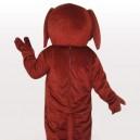 Brown Rooney Dog Short Plush Adult Mascot Costume