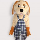 Supply Happy Dog Short Plush Adult Mascot Costume