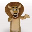 Madagascar Lion Short Plush Adult Mascot Costume
