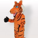 Supply Orange Tiger with Black Stripes Adult Mascot Costume