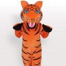 Orange Tiger with Black Stripes Adult Mascot Costume