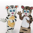 Supply Tiger Brothers Short Plush Adult Mascot Costume