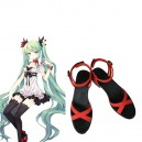 Cheap Perfect Vocaloid Hatsune Miku Imitated Leather Halloween Cosplay Shoes