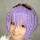 Supply StarrySky blue medium-length wig