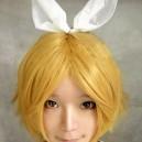 VOCALOID-Rin Mixed Gold Medium Length Hair