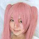 Supply Vocaloid-miku Smoke Pink Long Hair Halloween Cosplay Wig