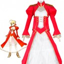 Supply Fate/stay Night Saber Red & White Cosplay Costume