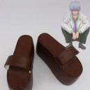 Supply Gin Tama Cosplay Sakata Gintoki Brown Cosplay Slippers