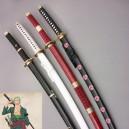 Supply 2015 One Piece Cosplay Roronoa Zoro Wood Cosplay Swords 4 Pieces