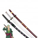 Supply New One Piece Cosplay Roronoa Zoro Whole 3 Cosplay Weapon Wood Swords