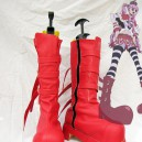 Supply One Piece Cospla Perona Red Artificial Leather Cosplay Boots