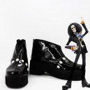Supply One Piece Cosplay Brook Black Cosplay Shoes
