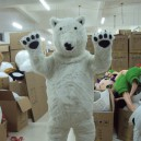 Supply Polar Bear Cartoon Costumes Walking Cartoon Doll Clothing Doll Clothing Cartoon Dolls Costumes Mascot Costume