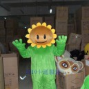 Supply Low Price Cartoon Costumes Stage Performance Clothing Festival Japanese Products Plant Sun Flower Zombie Wars Mascot Costume