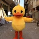 Supply Big Yellow Duck Cartoon Clothing Cartoon Walking Cartoon Dolls People Dress Costumes Performing Props Big Yellow Duck Mascot Costume