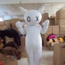 Supply Leonard Black Cartoon Clothing Cartoon Dolls Clothing Film and Television Animation Cartoon Show Clothing Mascot Costume