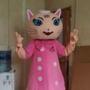 Supply Pink Cartoon Cat Cartoon Walking Doll Clothing Cartoon Dolls Cartoon Clothing Pink Cat Show Props People Mascot Costume