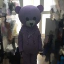 Supply Purple Teddy Bear Costume Wig Walking Cartoon Doll Clothing Marry Version Bear Plush Mascot Costume