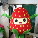 Supply Cartoon Costumes Walking Cartoon Dolls Cartoon Doll Dress Performance Props Strawberries Mascot Costume