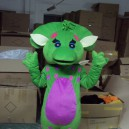 Supply Cartoon Costumes Walking Cartoon Dolls Dress Props Props Props Costumes Green Dragon Mascot Costume