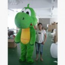 Supply Dinosaur Cartoon Doll Clothing Grass Green Dragon Cartoon Walking Doll Clothing Cartoon Dolls Costume Mascot Costume