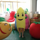 Supply Fruit Banana Fruit Card Cartoon Clothing Cartoon Show Clothing Doll Clothing Activities Through Fruit Cartoon Channel Mascot Costume