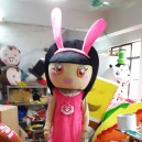 Supply Girl Cartoon Costume Props Plush Cartoon Doll Cartoon Girl Walking Clothing Cartoon Mascot Costume