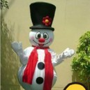 Supply Television Cartoon Snowman Cartoon Clothing Costumes Cartoon Costumes Snowman Christmas Promotions Doll Card Mascot Costume