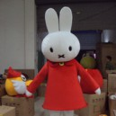 Supply Clever Rabbit Miffy Dolls Walking Cartoon Doll Clothing Fitted Caps Cartoon Costumes Mascot Costume