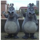 Supply Hippo Cartoon Doll Clothing Walking Cartoon Doll Clothing People Wear Cartoon Dolls Performances Mascot Costume