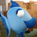 Supply Cartoon Doll Clothing Doll Adult Blue Whale Marine Animals Wearing Clothes Walking Its Performance Mascot Costume