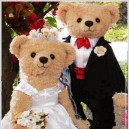 Supply Couple Teddy Bear Cartoon Doll Clothing Plush Doll Propose Items People Wear Walking Bear Wedding Bear Mascot Costume