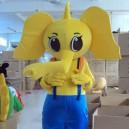 Elephant Cartoon Walking Doll Clothing Cartoon Dolls Doll Clothing Doll Dress Costumes Mascot Costume