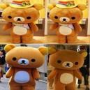 Supply Rilakkuma Easily Bear Dolls Walking Cartoon Clothing Costumes Lazy Bear Dolls Clothing Mascot Costume