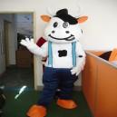 Cow Cartoon Clothing Cartoon Dolls Clothing Walking Cartoon Doll Clothing Doll Costumes Mengniu Mascot Costume