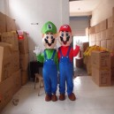 Supply Level Mario Cartoon Doll Clothing Doll Clothing Cartoon Walking Doll Cartoon Clothing Performance Props Mascot Costume