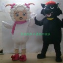 Supply Cartoon Doll Clothing Cartoon Doll Clothing Props Cartoon Clothing Frankie Black Wolf Mascot Costume